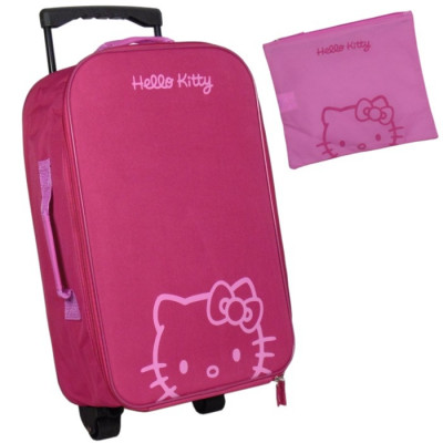 MALETA TROLLEY + NECESER HELLO KITTY