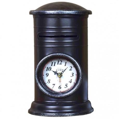 RELOJ DECORATIVO BUZÓN - NEGRO de la categoría Decoración Relojes