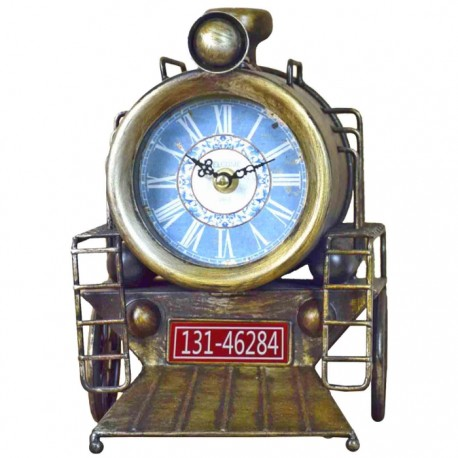 RELOJ DECORATIVO TREN - AMARILLO
