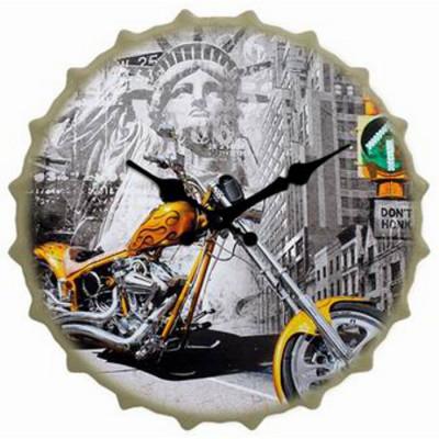 RELOJ CON FORMA DE CHAPA 40x40CM - NEW YORK