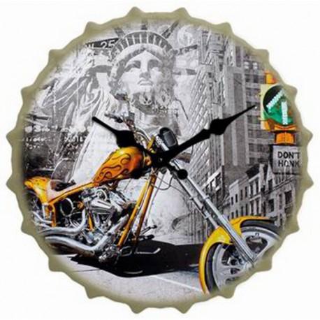 RELOJ CON FORMA DE CHAPA 40x40CM - NEW YORK de la categoría Decoración Relojes