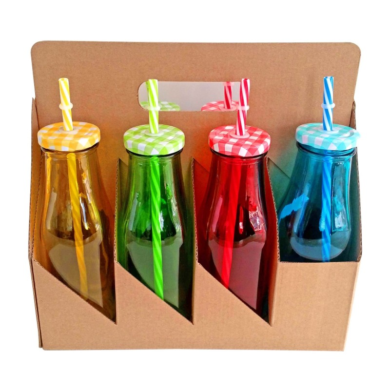 set botellas de cristal colores ml