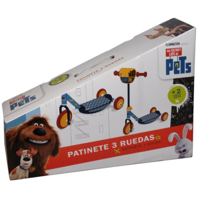 PATINETE 3 RUEDAS THE SECRET LIFE OF PETS