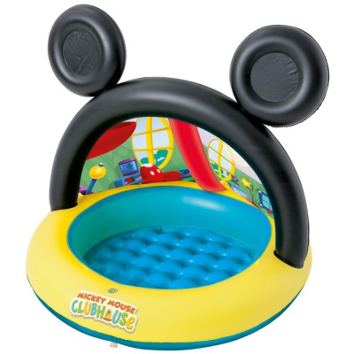 PISCINA HINCHABLE CON PARASOL MICKEY MOUSE