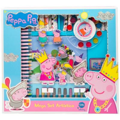 MEGA SET ARTÍSTICO HOLOGRÁFICO PEPPA PIG