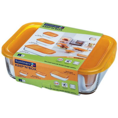SET 3 RECIPIENTES KEEPN BOX ORANGE