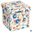 BAÚL DECORATIVO PLEGABLE 30x30x29,5CM - MOD.4
