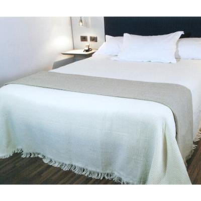 COLCHA MULTIUSOS 180x260CM - BEIG A CUADROS de la categoría Decoración Textil