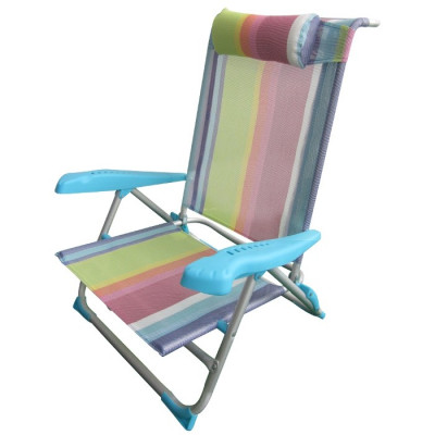SILLA PLAYERA CAMA RECLINABLE - MULTICOLOR