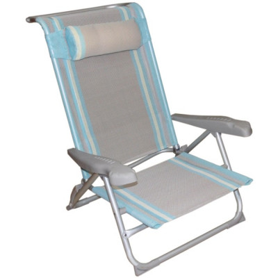 SILLA PLAYERA CAMA RECLINABLE - GRIS