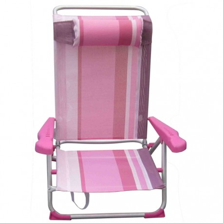 SILLA PLAYERA CAMA RECLINABLE - ROSA
