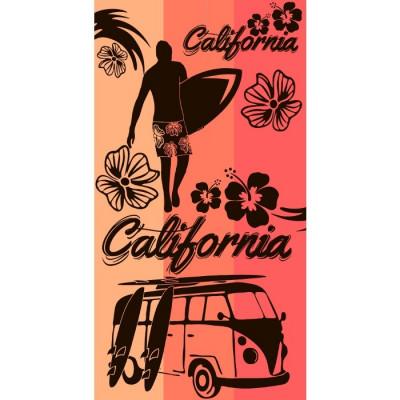 TOALLA DE PLAYA 90x170CM - CALIFORNIA CORAIL de la categoría Toallas y Bolsos Playa
