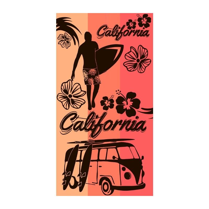 TOALLA DE PLAYA 90x170CM - CALIFORNIA CORAIL