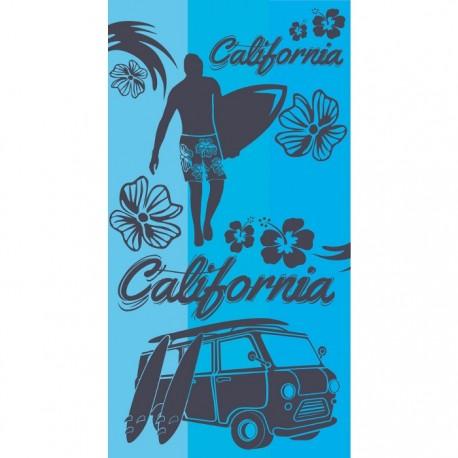 TOALLA DE PLAYA 90x170CM - CALIFORNIA TURQUOISE