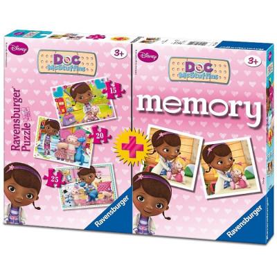 PUZZLE 15-20-25 PZAS + MEMORY DOCTORA JUGUETES