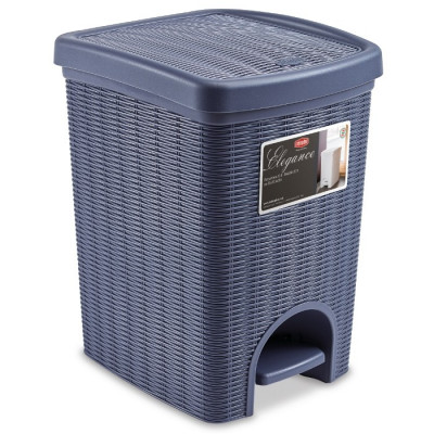 CUBO CON PEDAL ELEGANCE RATTAN BLUE NAVY 20L