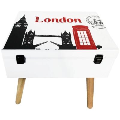 MESITA MALETA DE MADERA 40x30x42CM - LONDON