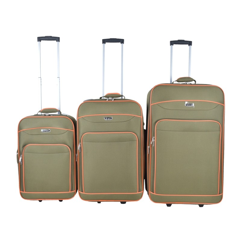 "SET 3 MALETAS TROLLEY SOFT 20""+24""+28"" - VERDE"