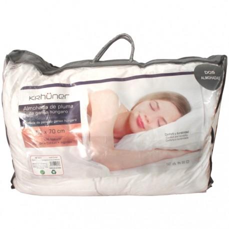 SET 2 ALMOHADAS DE PLUMA 50x70CM de la categoría Textil Dormitorio