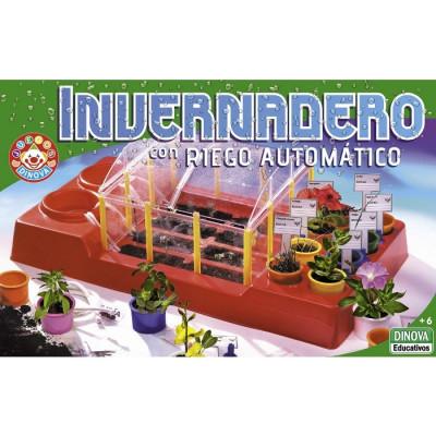 INVERNADERO CON RIEGO AUTOMÁTICO