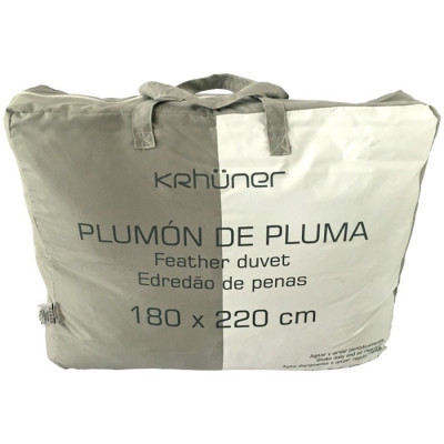 EDREDÓN BLANCO PLUMA 100 280GR 180x220CM
