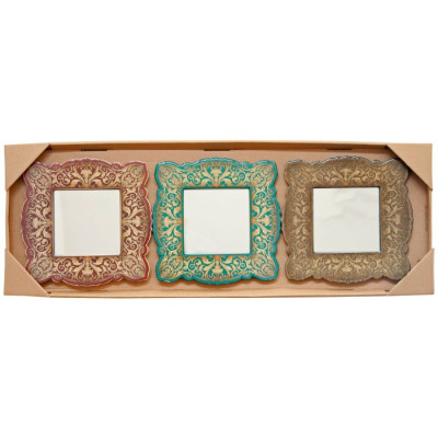 SET 3 ESPEJOS MDF 19,6x19,6CM - MOD.1