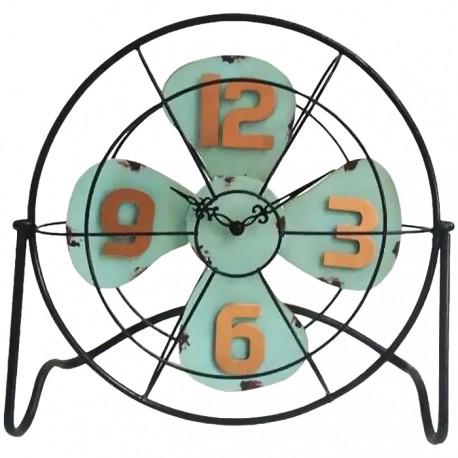 RELOJ METÁLICO VENTILADOR - VERDE de la categoría Decoración Relojes