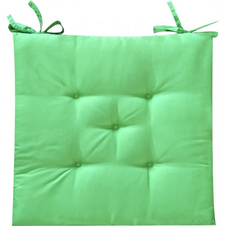 PACK 6 COJINES SILLA COLORES 40x40CM - VERDE