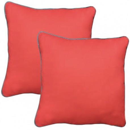 PACK 2 COJINES COLORES 40x40CM - NARANJA de la categoría Decoración Textil