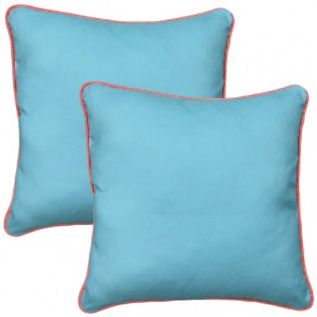 PACK 2 COJINES COLORES 40x40CM - AZUL de la categoría Decoración Textil