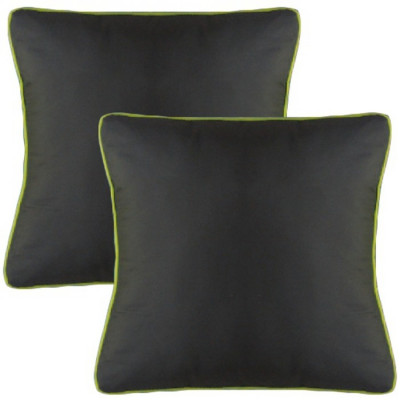 PACK 2 COJINES COLORES 40x40CM - GRIS OSCURO