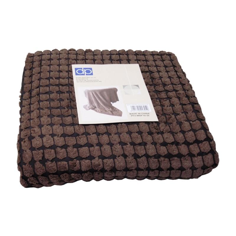 MANTA CORDUROY 130x170CM CHOCOLATE