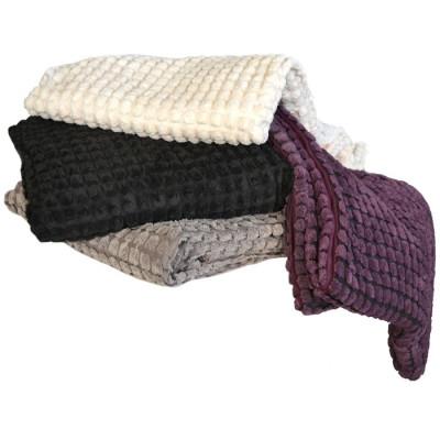 MANTA CORDUROY 130x170CM NEGRA de la categoría Textil Dormitorio