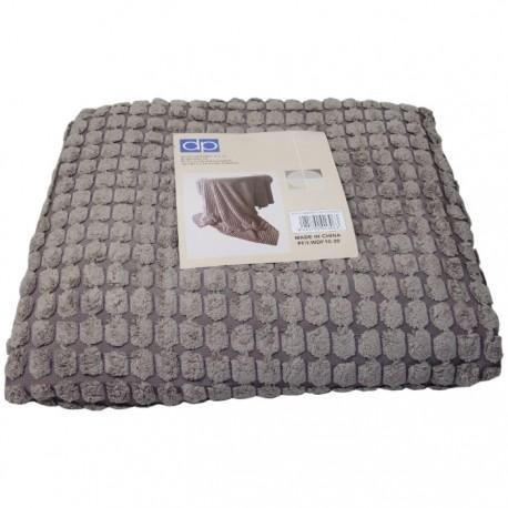 MANTA CORDUROY 130x170CM TOSTADA de la categoría Decoración Textil