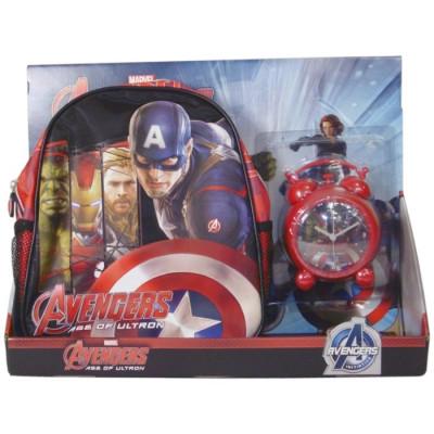 PACK MOCHILA PEQUEÑA + DESPERTADOR AVENGERS de la categoría Avengers