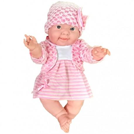 BEBÉ COLECCIÓN 37 CM - VESTIDO ROSA de la categoría Muñecas Bebé