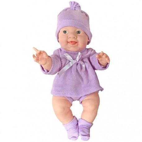 BEBÉ COLECCIÓN 37 CM - PELELE MORADO de la categoría Muñecas Bebé