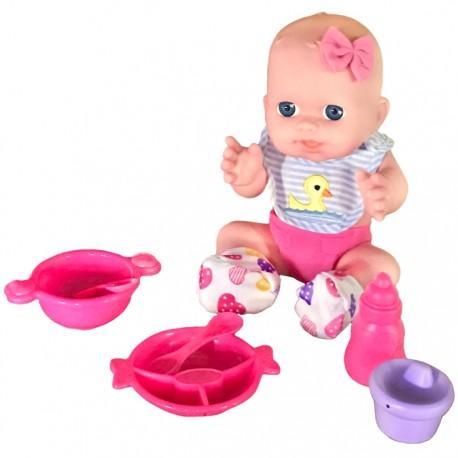 BEBÉ COMIDITAS 29CM - BABERO PATITO de la categoría Muñecas Bebé