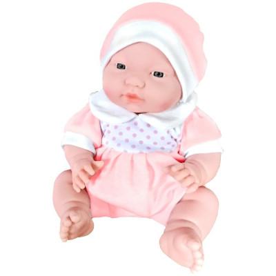 BEBÉ ADORABLE 29CM - TRAJECITO TOPOS ROSA de la categoría Muñecas Bebé