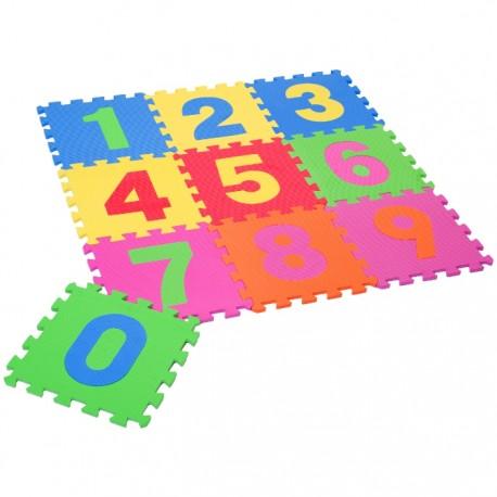 PUZZLE ALFOMBRA EVA 18PZAS NÚMEROS 31,5x31,5x1CM de la categoría Puzzles