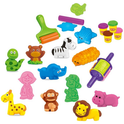 SET CREATIVO PLASTILINA REINO ANIMAL 27PZAS