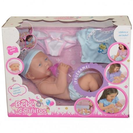 BEBÉ CARIÑITOS CON SONIDOS Y ACCESORIOS - AZUL de la categoría Muñecas Bebé