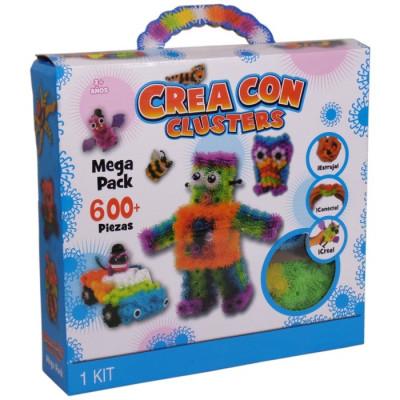 CREA CON CLUSTERS MEGA PACK 600PZAS