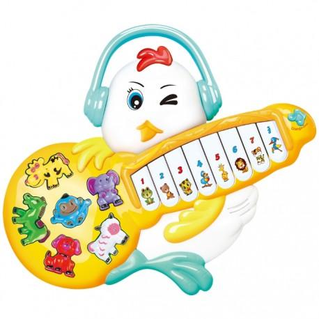 PIANO GUITARRA POLLITO ROCKERO - BLANCO de la categoría Preescolar