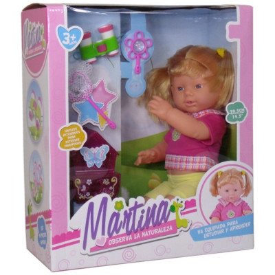 MARTINA OBSERVA LA NATURALEZA 39,5CM de la categoría Muñecas Bebé