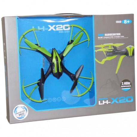 DRON RADIOCONTROL LH-X20 29x29x6CM - VERDE