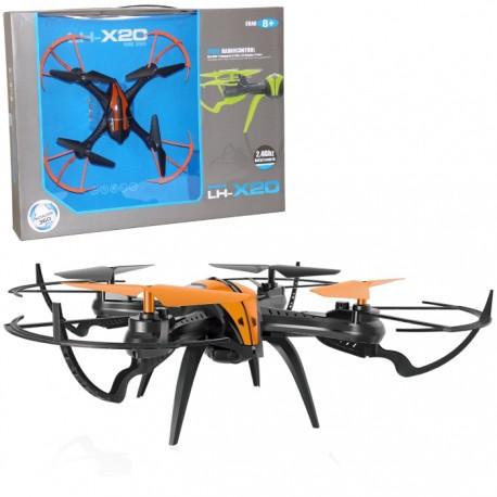 DRON RADIOCONTROL LH-X20 29x29x6CM - NARANJA