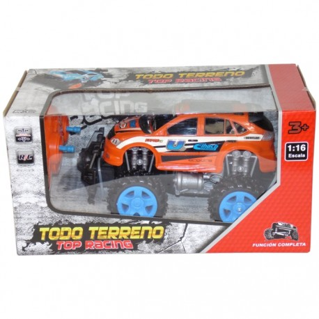 TODOTERRENO TOP RACING RADIOCONTROL 1:16 - NARANJA