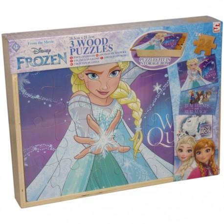 PUZZLE DE MADERA 3 EN 1 FROZEN de la categoría Puzzles