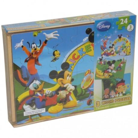 PUZZLE DE MADERA 3 EN 1 MICKEY Y JAKE Y LOS PIRATAS de la categoría Puzzles